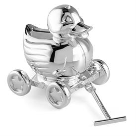"-DUCKY BANK. SILVERPLATE. 3.75"" LONG, 4.5"" TALL"