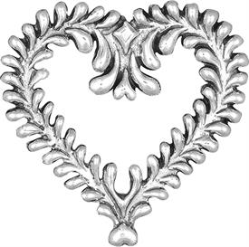 -,Chantilly Heart sterling silver ornament made by Hand & Hammer 2.25""