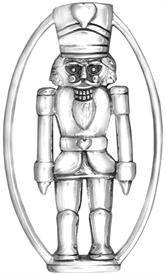 -,Nutcracker Ornament made by Hand & Hammer sterling silver