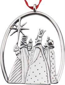 -,Three Kings Sterling Ornament made by Hand & Hammer