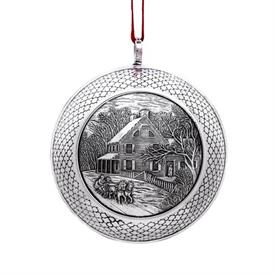 -,WINTER AFTERNOON OUTING BALL STERLING SILVER ORNAMENT BY BARRETT+CORNWALL YEAR 2019