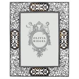 "-,5X7"" QUEEN ANNE'S LACE FRAME. FAUX TORTOISE SHELL & EAUROPEAN CRYSTALS IN A DECORATIVE METAL FRAME. MSRP $200.00"