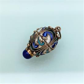 ",1920'S BLUE CZECH GLASS FLAPPER STYLE NECKLACE. HAND KNOTTED. 58"" LONG"