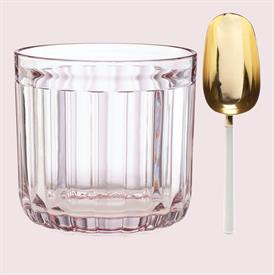 """-ROSE ICE BUCKET WITH SCOOP. 6.75"""" TALL"""