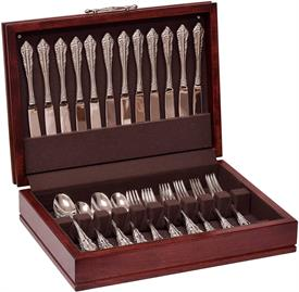 "-$,TRADITIONS CHERRY FLATWARE CHEST NO DRAWER HOLDS UP TO 150 PIECES SERVICE FOR 12 MADE IN USA 4"" HIGH BY 17"" WIDE BY 11.5"" DEEP"