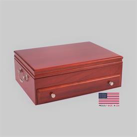 -$,BOUNTY CHERRY SINGLE DRAWER FLATWARE CHEST.  MSRP $364.95
