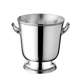 "-CHAMPAGNE COOLER BUCKET. SILVER PLATED. 9.1"" TALL"