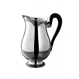 -WATER PITCHER. SILVER PLATED & EBONY WOOD.