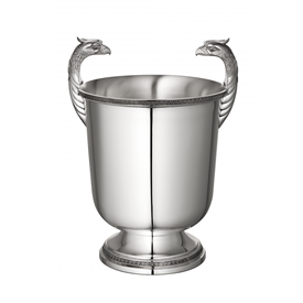 -FIGURAL CHAMPAGNE COOLER FOR 2 BOTTLES. SILVER PLATED.