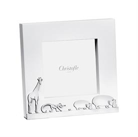"""-,3.5X3.5"""" PICTURE FRAME. SILVER PLATED & WOOD."""
