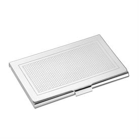 """-BUSINESS CARD HOLDER. SILVER PLATED. 3.8"""" LONG."""