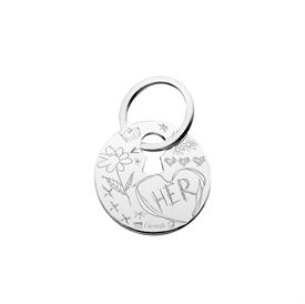 "-'HER' KEYCHAIN. SILVER PLATED. 1.75"" LONG"