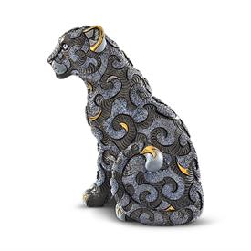 "-,PANTHER WITH ARABESQUES. LIMITED EDITION 353 OF 400. 12.8"" TALL, 7.8"" LONG, 7.5"" WIDE."