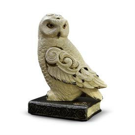 "-,OWL AND BOOK. LIMITED EDITION 94 OF 400. WHEN PERCHED ON BOOK, THE COMBINED PIECES MEASURE 11.8"" TALL, 8.25"" WIDE, AND 5.5"" DEEP"
