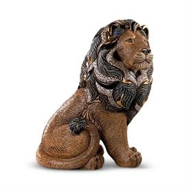 "-,MAJESTIC LION. LIMITED EDITION 460 OF 1000. 12.8"" TALL, 11.25"" LONG, 7.5"" WIDE"