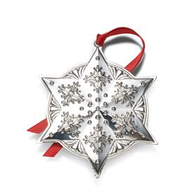 "-,Star Ornament Sterling Silver Christmas Ornament Year 2020 24th Edition made by Towle in USA 3.5"" Wide by 4"" Tall"