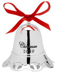 "-+Musical Bell 40th Ed. Silver Plated Anniversary Edition made by Towle in China 3"" Wide by 2.75"" Tall MSRP $68 Play ""White Christmas"""