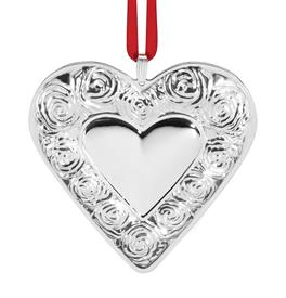 "_,3rd Ed.Heart Ornament 2020 Sterling Silver Ornament made by Reed & Barton in USA 3.5"" MSRP $175 3rd Edition MIDSEASON MARKDOWN WAS $139.95"