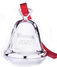 "_329-3""Christmas 2020"" Bell Silver Plated made by Reed & Barton in USA 3"" Tall SKI# 892866  WAS $29.95 MIDSEASON MARK DOWN TO PRICE MATCH."