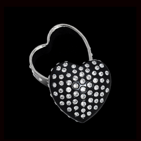 "-,BLACK SEMPRE HEART TRINKET BOX. 'FOREVER HEART' BOX MEASURES 3"" WIDE. HAND-SET WITH SWAROVSKI CRYSTALS."