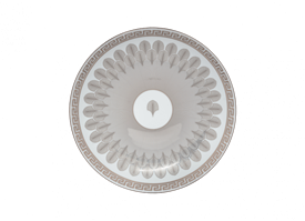 "-PLATINUM CENTERPIECE PLATE. 12.25"" WIDE"