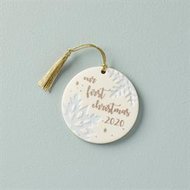 """-:2020 OUR 1ST CHRISTMAS SNOWFLAKE ORNAMENT. 3.5"""" WIDE. MSRP $66.00"""