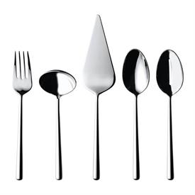 -5-PIECE SERVING SET. INCLUDES CAKE SERVER, MEAT FORK, GRAVY LADLE, PIERCED TABLESPOON & TABLESPOON