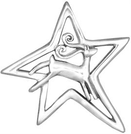 -,Comet Sterling Silver Christmas Ornament by Hand & Hammer