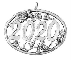 -,2020 Annual Birds Sterling Silver CHristmas Ornament by Hand & Hammer