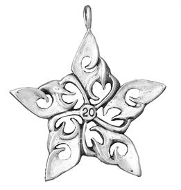 _,2020 Annual Star Sterling Silver Christmas Ornament by Hand & Hammer