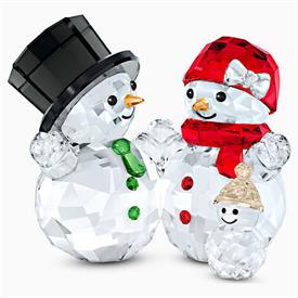 "-,SNOWMAN FAMILY FIGURINE. 1.75"" TALL, 2.2"" LONG, 1.4"" DEEP"