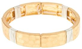 _GOLD WIRE WRAPPED RECTANGLE BRACELET. MSRP $24.95