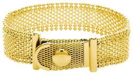 _GOLD WEAVE CHAIN BRACELET. MSRP $24.95