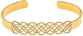 _GOLD CELTIC BRAID CUFF BRACELET. MSRP $22.95
