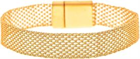 _GOLD WOVEN CHAIN MAGNET CLASP BRACELET. MSRP $22.95