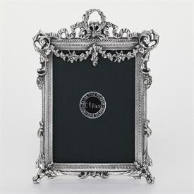 "-_,1782 'FLORAL SWAG' 2.5X3.8"" FRAME IN SILVER FINISH"