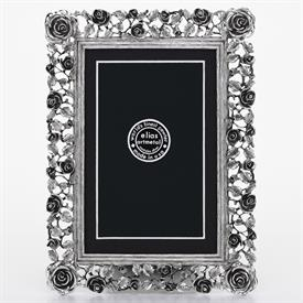 "_,2416 'TRELLIS ROSE' 4X6"" FRAME IN SILVER FINISH"
