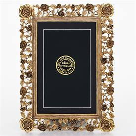 "_,2416G 'TRELLIS ROSE' 4X6"" FRAME IN GOLD FINISH"