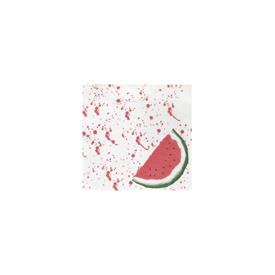 """-:20-PACK OF WATERMELON COCKTAIL NAPKINS. 5"""" SQUARE (FOLDED), 10"""" SQUARE (FLAT)"""