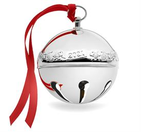 """-,27th Sterling Sleigh Bell -27th Edition (Acorns & Snowflakes) made of sterling silver in Year 2021 2.75"""" x 2.75"""" made in USA"""