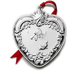 -,30th Ed. Heart, Grande Baroque, Sterling Silver Christmas Ornament made by Wallace for year 2021 M S R P $247.50 30th Anniversary Edition