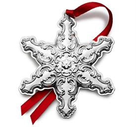 -,24th Ed. Snowflake, Grande Baroque, Sterling Silver Christmas Ornament made by Wallace in USA for year 2021 24th Annual Edition M S R P $2