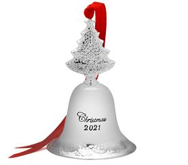 -,Grande Baroque Bell Silver Plated Ornament - 27th Edition (Christmas Tree Finial) made by Wallace M. S. R. P.  $60