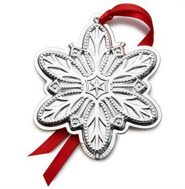 -,Snowflake Silver Plated Ornament 2nd Edition made by Wallace in USA M S R P $82.50