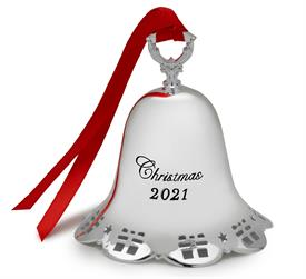 -,42nd Ringing Bell Silver Plated Ornament (Gifts Border) 42nd Edition made by Towle M S R P  $52.50