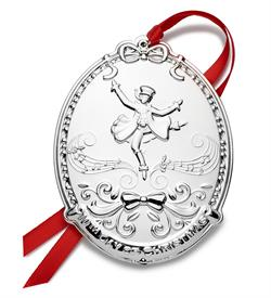 """-,10th Ed.12 Days of Christmas Silver Plated Ornament made by Towle in USA for year 2021 10th Edition """"10 Lords a Leaping"""""""
