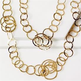 """-,CAROLE NECKLACE IN 18K GOLD OVER STERLING SILVER. 50"""" LONG."""