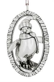 -,PENGUIN STERLING SILVER ORNAMENT BY BARRETT+CORNWALL  RETAIL WAS: $210