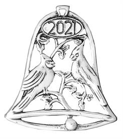 -,Annual Birds 2021 Sterling Silver Christmas Ornament by Hand & Hammer x054256