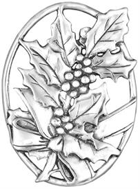 -,December Sterling Silver Christmas Ornament by Hand & Hammer x052546